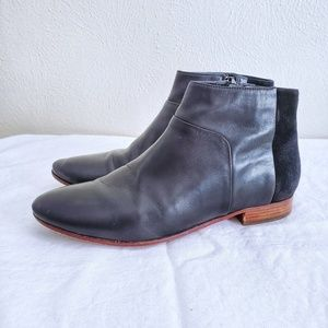 Cole Haan Allen Leather and Suede Ankle Bootie
